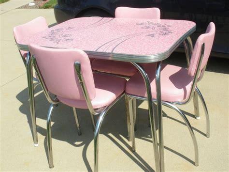 Pink Kitchen Table Dinette Set Kitchen Kitsch