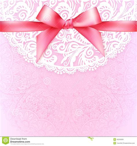 message card template pink lacy vintage wedding greeting card template stock