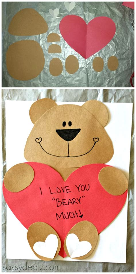I You Beary Much Card Template by Quot I You Beary Much Quot Craft For