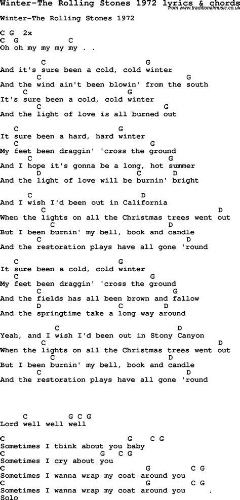 stones lyrics song lyrics for winter the rolling stones 1972 with