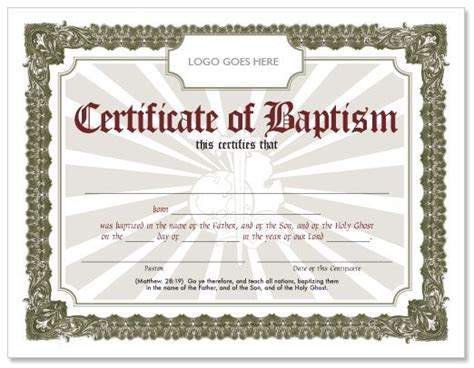 Free Editable Baptism Certificate Template by Editable Baptism Certificate Template Baptismal