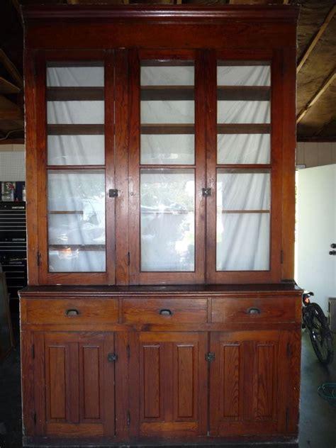 antique butlers pantry cabinet fir  original