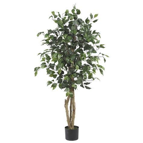 Potted Trees by 4 Foot Silk Ficus Tree Potted 5299
