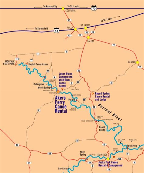 map out your trip our location directions aker s ferry canoe rental