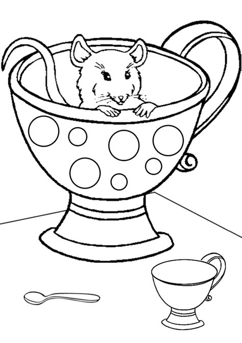 Free Online Printable Kids Colouring Pages Hiding Mouse Kidspot Colouring Pages