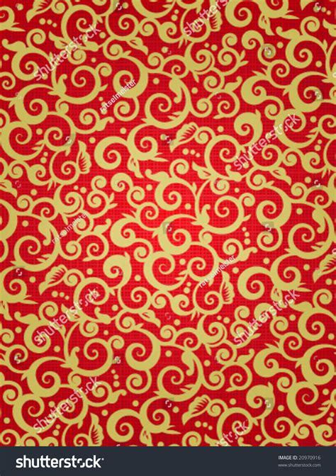 pattern red and gold red gold vertical background scrollwork floral stock