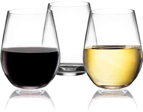 heavy wine glasses vivocci unbreakable plastic stemless wine glasses