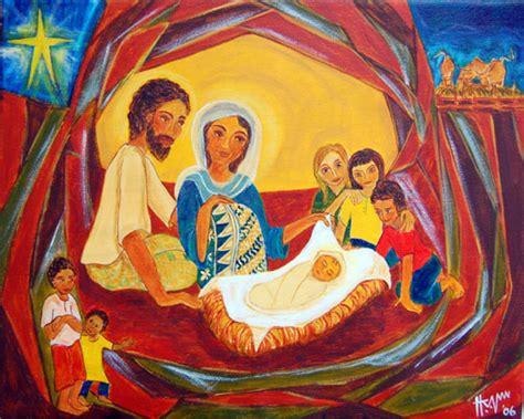Acrylic Di Malaysia image gallery modern nativity paintings
