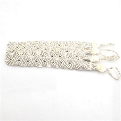 knitted curtain tie backs 1 pair 2pcs polyester rope window curtain knitted tiebacks