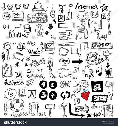 doodle viewer for bbm big set doodles stock photo 130697240
