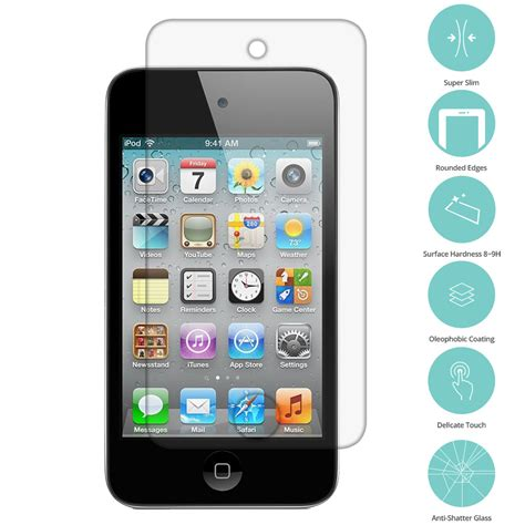 Antibreak Guard Ipod Touch 4th 4x real premium tempered glass screen protector for