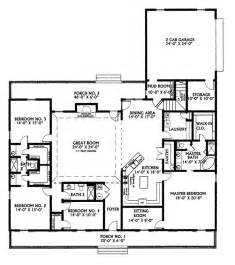 Master On Main House Plans by Ranch House Plan First Floor 028d 0022 House Plans And