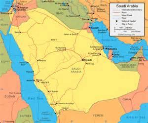 map arab saudi arabia map and satellite image