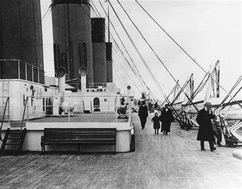 Pictures Of Titanic On Floor by The Second Class Promenade On The Boat Deck Of The White Liner Rms Titanic 1912