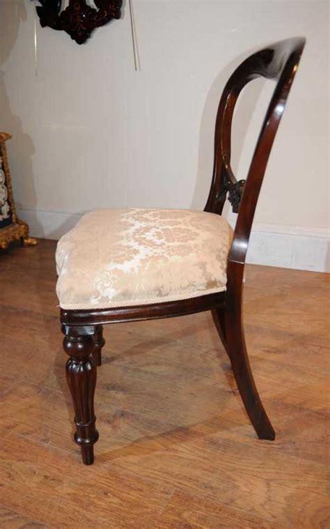 mahogany victorian dining chairs balloon