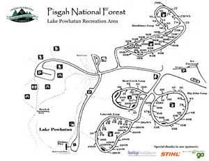 carolina cgrounds map lake powhatan cground cing near asheville nc