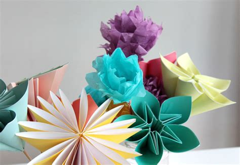 Make Flower By Paper - make a bouquet of beautiful paper flowers for s day