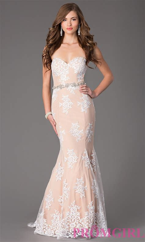 Sweetheart Dresses by Lace Strapless Sweetheart Prom Dress Promgirl