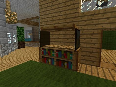 minecraft furniture storage minecraft study shelf