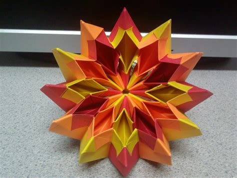 Origami Firecracker - origami fireworks top view by theorigamiarchitect on