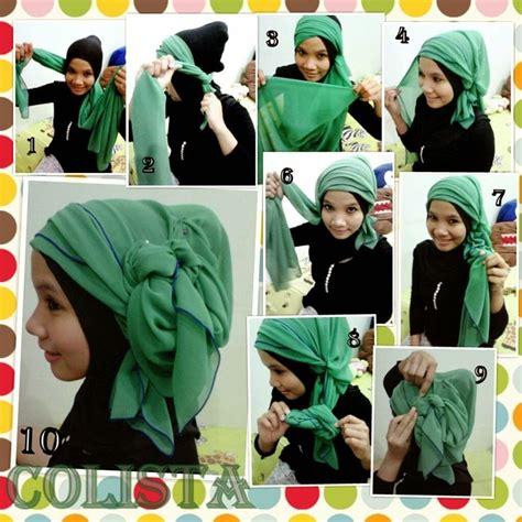 gambar menarik tutorial hijab segi empat lengkap