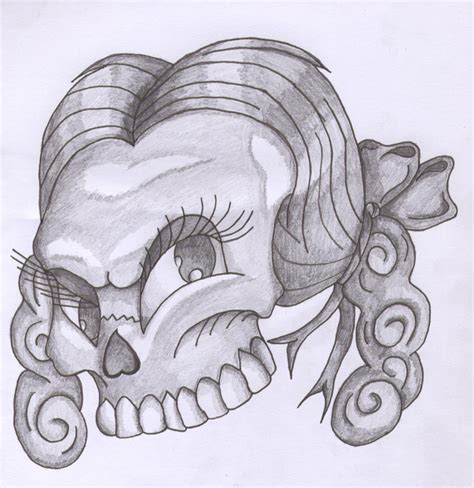 girly skull tattoos designs girly skull design by heavens harbinger on deviantart