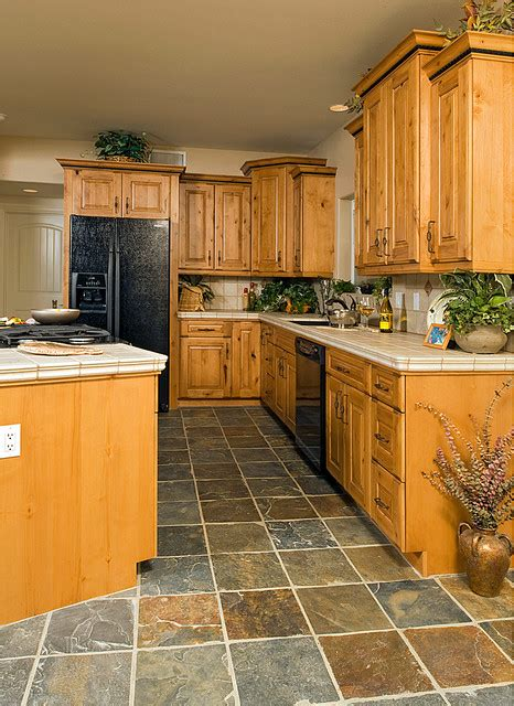 kitchen rustic kitchen other metro by peace design knotty alder cabinets tile splashback ideas pictures