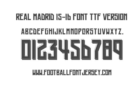 arsenal jersey font free download real madrid 2015 2016 font ttf and vector download