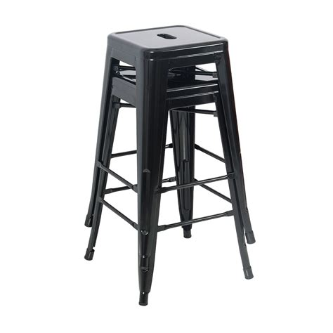 Stool Bar Height by Set Of 2 Metal Bar Stool Counter Height Home 24 Quot 26 Quot 30