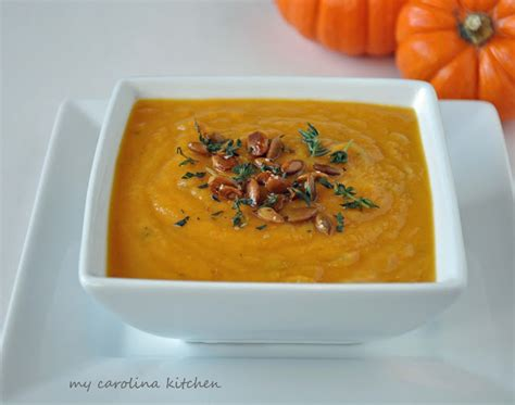 my carolina kitchen pumpkin squash soup an easy make ahead lunch to serve on black friday