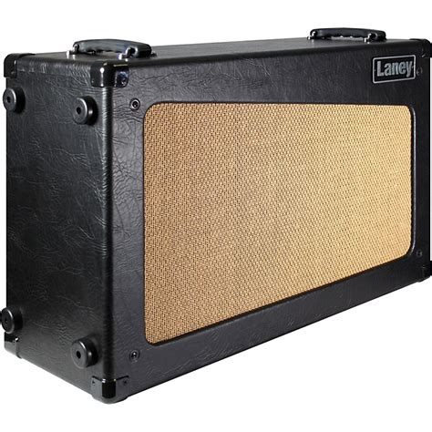 laney cub cab 2x12 open back guitar speaker cabinet black