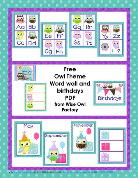 owl theme classroom printables birthdays tes