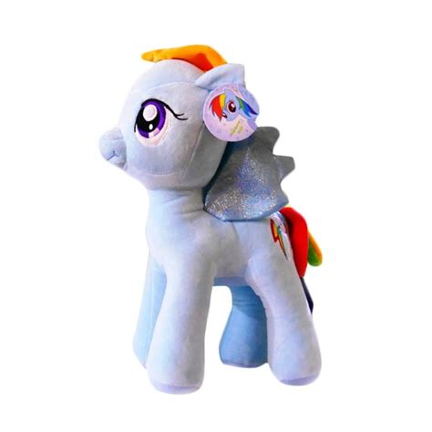 Boneka Rainbow Dash Xl My Pony jual my pony rainbow dash boneka biru muda 22 cm