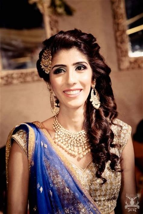 hairstyles for open curly hair bridal makeup photos indian bridal makeup hairstyle