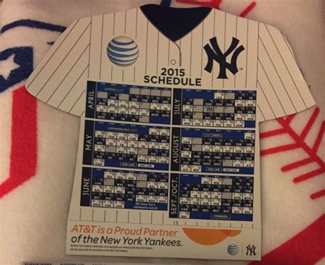 Yankees Schedule Giveaways - april 10 2015 new york yankees vs boston red sox magnetic schedule night