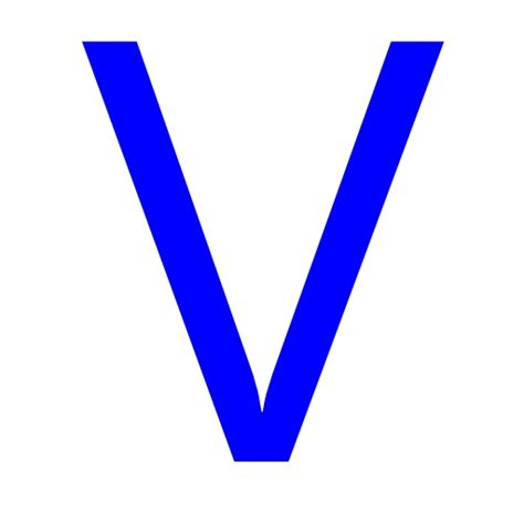 free blue letter v icon download blue letter v icon
