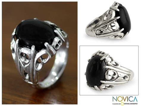 silver rings for with sterling silver mens of the onyx ring indonesia