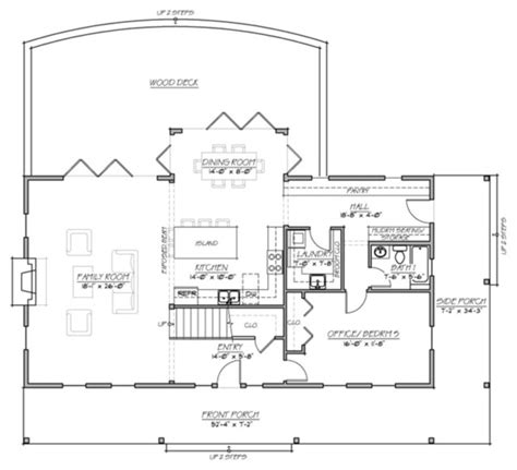 farmhouse open floor plans plan 485 1 farmhouse traditional floor plan other