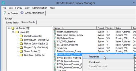 workflow coordinator description editing a survey s description datstat academy