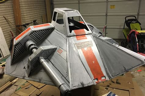 sw boat diy a father built a kickass star wars ship out of cardboard