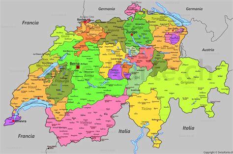 della svizzera italiana mappa svizzera