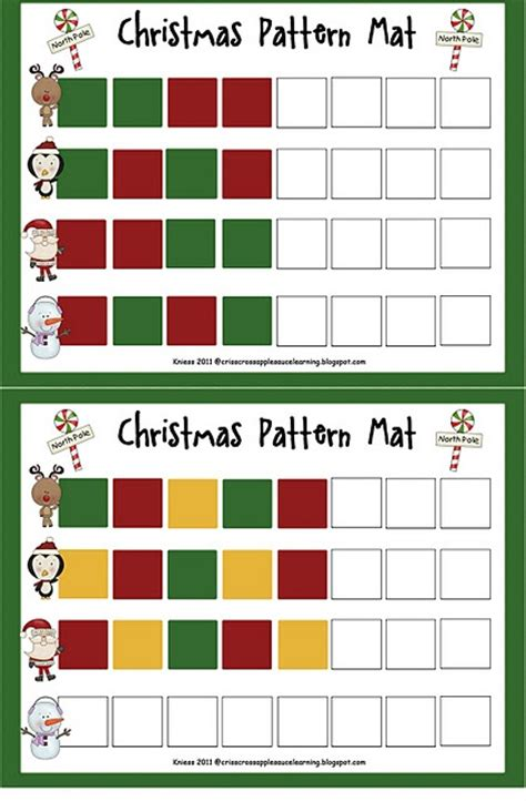christmas pattern maths 473 best images about free christmas printables