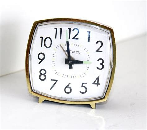 wind  alarm clock square westclox clock mechanical