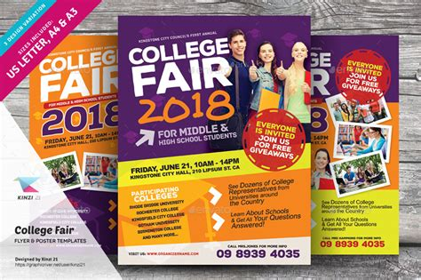 College Fair Flyer Templates By Kinzi21 Graphicriver College Flyer Template