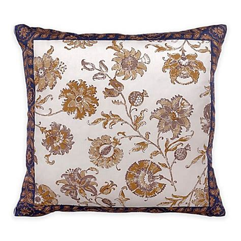 blue throw pillows for bed bed inc isabelle floral square throw pillow in blue white