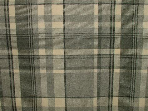 tartan curtains elgin dove grey wool effect washable thick tartan curtain