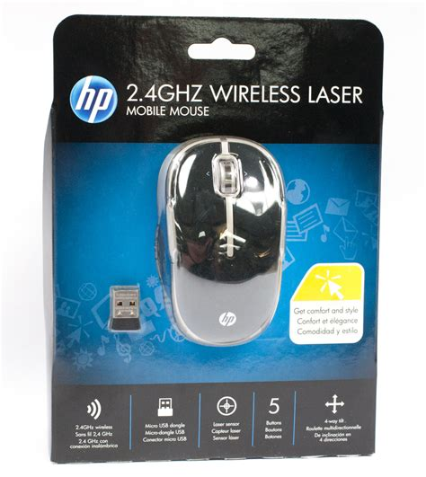 Mouse Wireless Hp 2 4ghz new vk482aa hp 2 4ghz wireless laser mobile mouse usb