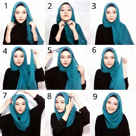 tutorial gambar hijab simple 25 kreasi tutorial hijab segi empat simple 2018