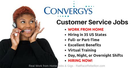 convergys hiring in 35 states excellent benefits