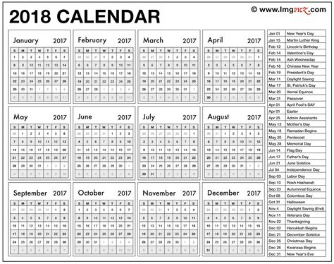 2018 Calendar With Bank Holidays 2018 Calendar Uk Template Printable With Holidays Bank